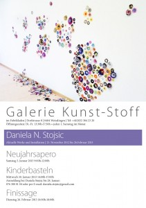 Flyer Daniela Stojsic Galerie Kunst-Stoff Weisslingen